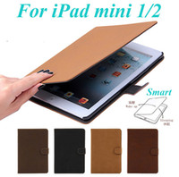 Wholesale Ipad Mini Cover Vintage - Vintage Retro Luxury Book Style Flip Smart PU Leather Stand Case Cover With Auto Sleep Wake Up For iPad Mini 1 2 Mini2 Retina Display