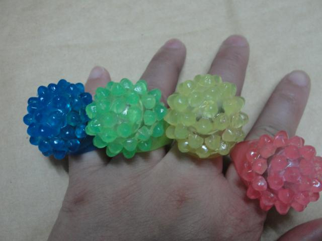 Light Ring Glow Light Ring LED lampeggiante Ring Bar DJ Rave Toys Light Up gomma elastica lampeggiante Ring Party