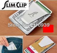 Wholesale Stainless Steel Mn - Wholesale-MN-Free DropShipping !Top quality BRAND NEW Stainless Steel MONEY DOUBLE SIDED WALLET Money Clips