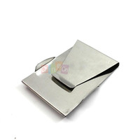 Wholesale Wallet Double Money Clip - New Arrival 2015 Stainless Steel Double Side Money Cash Credit Bank Card Wallet Grip Money Clip