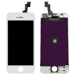Wholesale Iphone Full Set - LCD For iPhone 5 5G 5S 5C with touch screen Full set Assembly White and black color Cell Phone Parts Cell Phone LCD Free Ship