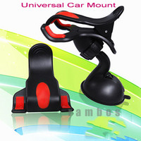 Wholesale clip car mount holder suction resale online - 360 Rotating Clip Car Windscreen Suction Mount Holder Stand Cradle for GPS for Samsung S4 for Smartphone