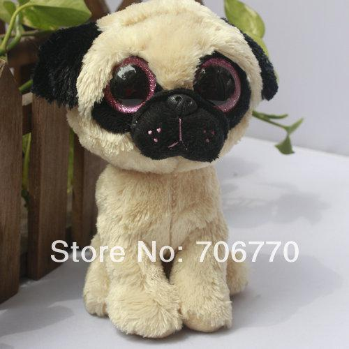 In Hand Rare Ty Beanies Boo Cute Big Eyes Animal Pugsly The Pug