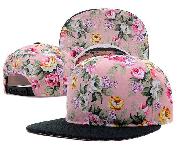 best selling New snapback hats snap back caps Floral Blank Snapback
