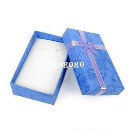 Wholesale Earring Box Set - 16pcs lot Assorted Colors Jewelry Sets Display Box Necklace Earrings Ring Box 5*8 Packaging Gift Box mixed $10 Free Shipping