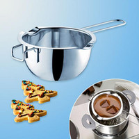 Wholesale Stainless Steel Butter Chocolate Melt Heating Wasserbad Schmelzschale Bowl Perfect Bake Tools
