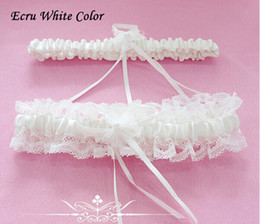 Wholesale Red Garters - 2014 Free Shipping Sexy Lace Garters Ladies Wedding Garters Blue Red White Pink Bowtie Bridal Garter