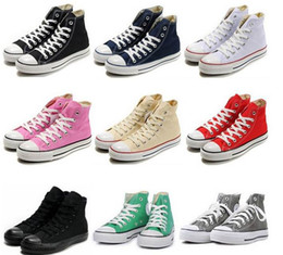 Wholesale High Sport Shoes Ladies - 2015 Unisex Classic Canvas High Top Style Sport Young Men & Ladies Shoes All fashion Star Athletic casual shoe Strong Quality dorp shipping