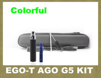 Wholesale Cheapest Electronic Vaporizer - 2014 Ego-t electronic cigarette ago g5 zipper case dry herb vaporizer pen review design china cheap ego-t tank electronic cigarette ZA0002