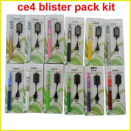 Wholesale Ego Blister Kit Dhl - eGo t CE4 blister kits 1.6ml ce4 atomizer Clearomizer 650 900 100mah ego-t battery usb charger blister packaging via DHL