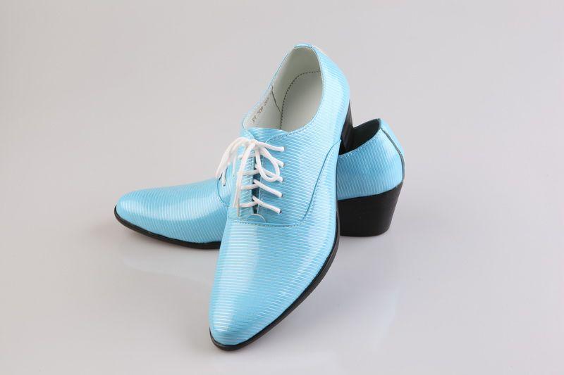 Sky Blue Men S Loafers Wedding Shoes Party Shoes Dress