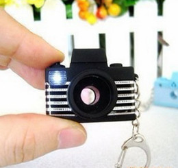 Wholesale Promotion Led Light Key Chain - Camera Flash Light LED Key Chains key ring Shutter Sound Toy keychain New 3 colors Best Gift free shipping
