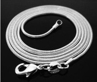 FREE SHIPPING! Wholesale 20pcs 925 sterling silver 1. 2mm sna...