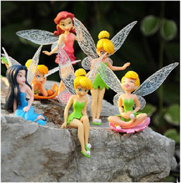 Wholesale Tinker Bell Sale - NEW High Quality PVC 6pcs Tinkerbell Fairy Adorable Tinker Bell Figures Toy Doll Festival Gifts Free shipping Hot Sale