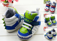 Wholesale Cheap Wholesale Sneakers Free Shipping - Free shipping!Lovely modelling baby shoes,dinosaur toddler shoes,walker shoes,dog boy sneakers children shoes,cheap shoes.6pairs 12 pcs.C