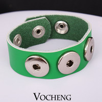 ingrosso bracciale vb-NOOSA Genuine Leather Bracelet Ginger Snap Jewelry per 18mm Button Vb-002