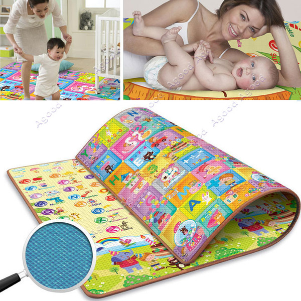 New Baby Kids Children S Learning Math Two Sided Crawling
