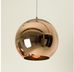 Wholesale Tom Dixon Copper Light Shades - Dia 40cm Copper Shade Mirror Ball Pendant Light,Dining room Glass Pendant lamp By Tom Dixon Design