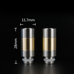 Wholesale Ee2 Ego Stainless - Newest Stainless Steel Wide Bore Drip Tip 510 EGO Atomizer Mouthpieces for Vivi Nova DCT CE4 EE2 EVOD Electronic Cigarettes