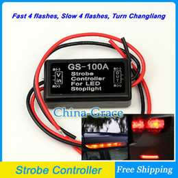 Wholesale Led Flashing Bulbs For Cars - 12V Car Flash Strobe Controller Flasher Module for LED Additional Brake Lights Stop Lights, Motorcycle Brake Light Bulbs