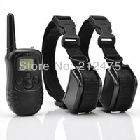 Wholesale Dog Shock Collars Batteries - Brand New 2 DOGS LCD 100LV ELECTRIC SHOCK VIBRATE REMOTE DOG TRAINING COLLAR TRAINER PRODUCTS SUPPLIES Battery Life