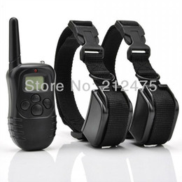 Wholesale Remote Trainers - Brand New 2 DOGS LCD 100LV ELECTRIC SHOCK VIBRATE REMOTE DOG TRAINING COLLAR TRAINER PRODUCTS SUPPLIES Battery Life