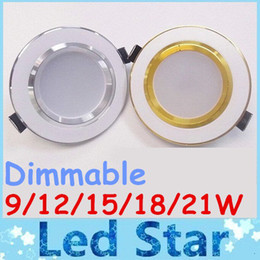Wholesale Downlight Inch - Hot Sale 2.5 3 3 5 4 6 Inch Led Recessed Downlight Lamp 160 Angle 21W 18W 15W 12W 9W Led Ceiling Light AC 110-240V Dimmable Warm Cool White