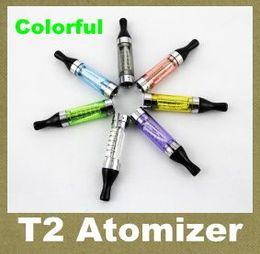 T2 2,4ml online-T2 mit veränderbarer Spule T2 langer WicK Zerstäuber E Cig T2 Zerstäuber 2.4 ml Clearomizer E Zigarette E Cig Ego Tank AT043