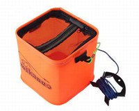Wholesale 5PCS L EVA Square folding bucket with rope M Thicker material Very strong compact and easy to carry High quality