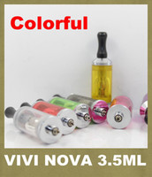 Wholesale Dct Wick - ViVi Nova 3.5ml ViVi Nova BDC Atomizer 510 long wick Atomizer DCT Tank For E Cigarette 2014 New Release Promotion Price AT052