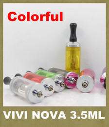 Wholesale Metal Nova Tanks - ViVi Nova 3.5ml ViVi Nova BDC Atomizer 510 long wick Atomizer DCT Tank For E Cigarette 2014 New Release Promotion Price AT052