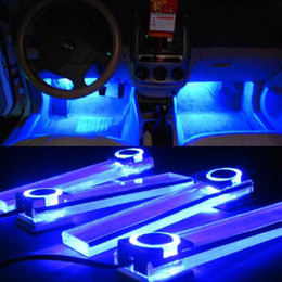 Wholesale Bmw Floor - Free Shipping High Quality 4 LED Car 4 in 1 Lighter Car Interior Decorative Floor Dash Light