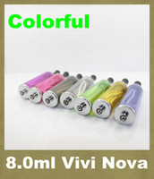 Wholesale Detachable Vivi Nova - EGo Electronic Cigarette Detachable VIVI NOVA Atomizer 8ml EGo Clearomizer Large Vapor Cartomizer AT054
