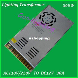 Wholesale Unit Switch - . 360W power supply unit DC12V 30A switching led transformer AC100-240V led driver warranty 2 years,fast shipping