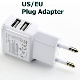 Wholesale S4 Dual Dock - 5V 2A Dual USB Wall Charger for Samsung EU US Plug AC Power Home Travel Adapter for Galaxy S4 S3 S5 Note 2 3 HTC Nokia Blackberry Universal