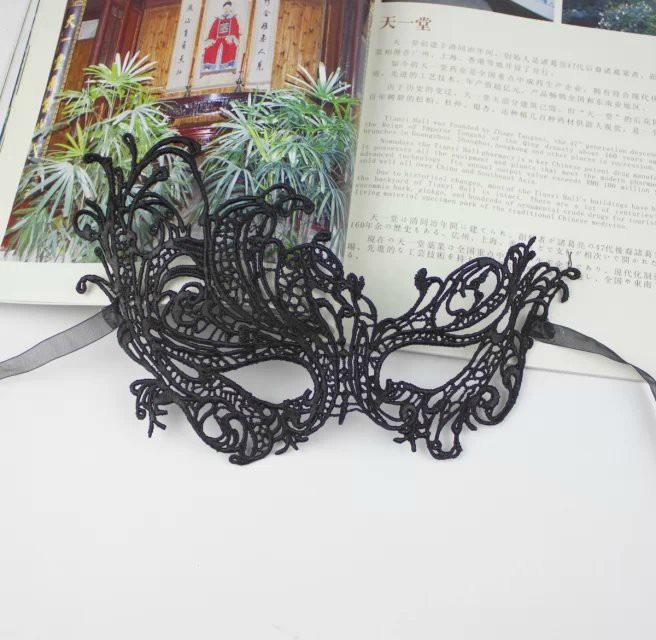 Black Lace Sexy Mysterious Women's Eye Mask For Masquerade Party Prom Ball Halloween Fancy Dress Party Express Shipping Free