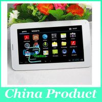 Wholesale Tablet Pc Gsm Sim Slot - 7inch Phablet Allwinner A23 2G GSM Phone Tablet PC with Sim Card Slot 512M 4G Bluetooth Dual Camera Android 4.0 Dual Core GSM tablets 002396