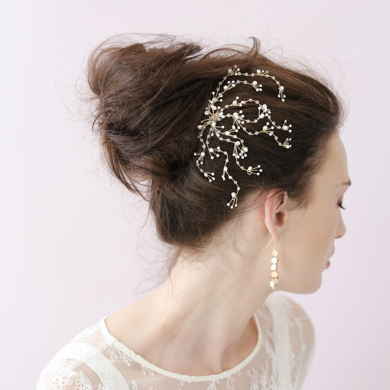 dainty crystal spray comb bridal hair accessories combs s wedding