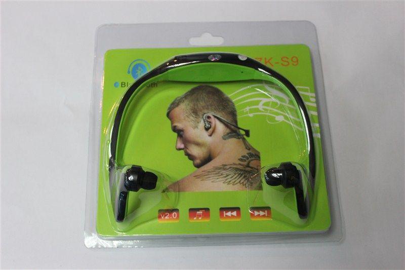 Bluetooth Cuffie stereo Bluetooth auricolari S9 Bluetooth auricolari bluetooth 4.0 con pacchetto di vendita al dettaglio con scatola al minuto