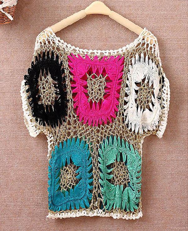 Primavera estate donne maglieria maglia maglione sexy bikini colorato clockt blusa coglioni da bagno costumi da bagno Poncho Capo TEE Shirt Cover