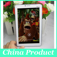 Wholesale tablet pc 3g phablet mtk6572 resale online - Phablet quot MTK6572 Dual Core G phone call tablet M G Android Dual Sim Dual Camera GPS tablet pc