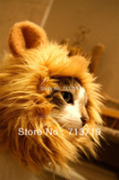 Wholesale Lion s Mane Cat Hat cat s toy like lion mane hat Stuffed amp Plush Toy Lion s Mane Hat for Cats