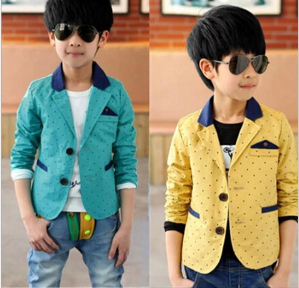 2014 New Arrival Big Children Casual Suit Jacket Fashion Dot And ...