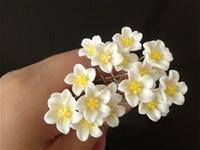 Wholesale Lily Hair Wedding - New Fashion 200PCS WEDDING BRIDAL WHITE LILY FLOWER HAIR PINS