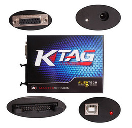 Wholesale Ecu Testing - 2015 DHL Free Shipping KTAG K-TAG ECU Programming Tool ECU Prog Tool Master Version KTAG K TAG ECU Chip Tunning can test car and truck