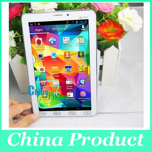 "7"" 2G ISDB-T TV Phone Call tablet pc MTK6572 Android 4.2 Dual Core Dual SIM Built-in GPS Bluetooth Phone Dual Cameras Phablet 002399"