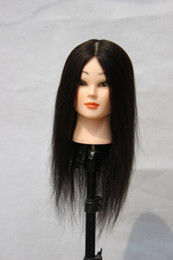 Wholesale Free Hair Cosmetology Mannequins - High Quality Hairdressing Training Head , Cosmetology Mannequin Head, Stand Model Head With Black Hair, Free Shipping