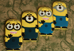 Wholesale Case Galaxy Note Minions - 3D Despicable Me Silicone Gel Rubber Case Cover Cute Smile Big Eye Minions For Samsung Galaxy S4 S5 S6 Note 3 4 5