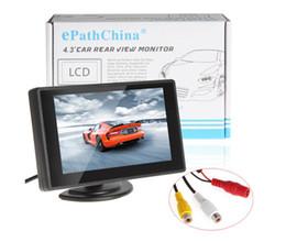 Großhandel 4,3 Zoll Farbe TFT LCD Parkplatz Auto Rückspiegel Monitor Auto Backup Monitor 4,3 '' 2 Videoeingang für Rückfahrkamera DVD