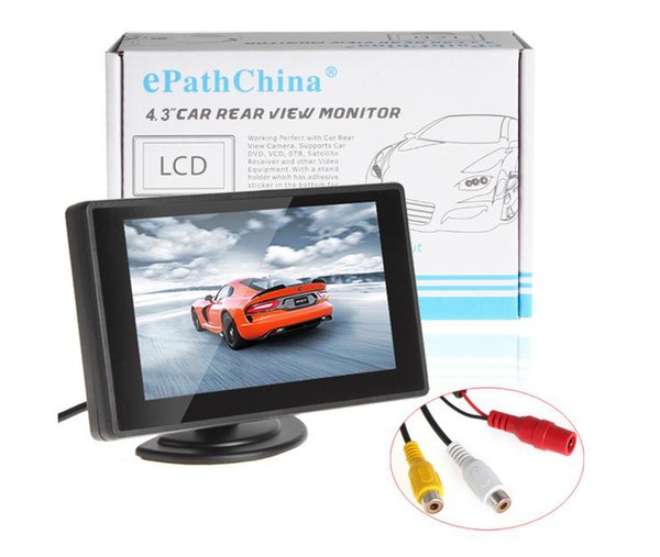 top popular 4.3 Inch Color TFT LCD Parking Car Rearview Monitor Car Backup Monitor 4.3'' 2 Video Input for Reverse Camera DVD 2021